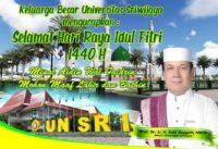 Prof. Dr. Ir. H. Anis Saggaff, MSCE| Selamat Hari Raya Idul Fitri 1440 H