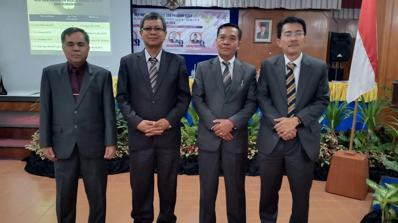 Empat Balon Direktur Polsri Sampaikan Visi Misi dan Program Kerja