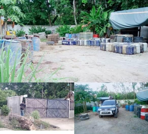 Gudang yang Diduga Penampungan BBM di Lokasi Proyek PT CK Mencemaskan Warga