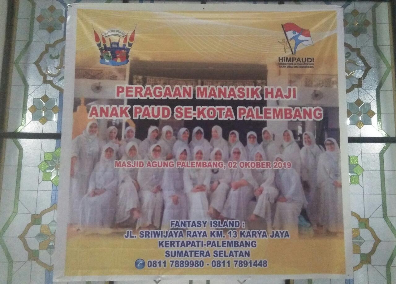HIMPAUDI Kota Palembang, Gelar Peragaan Manasik Haji  Di Masjid Agung Palembang