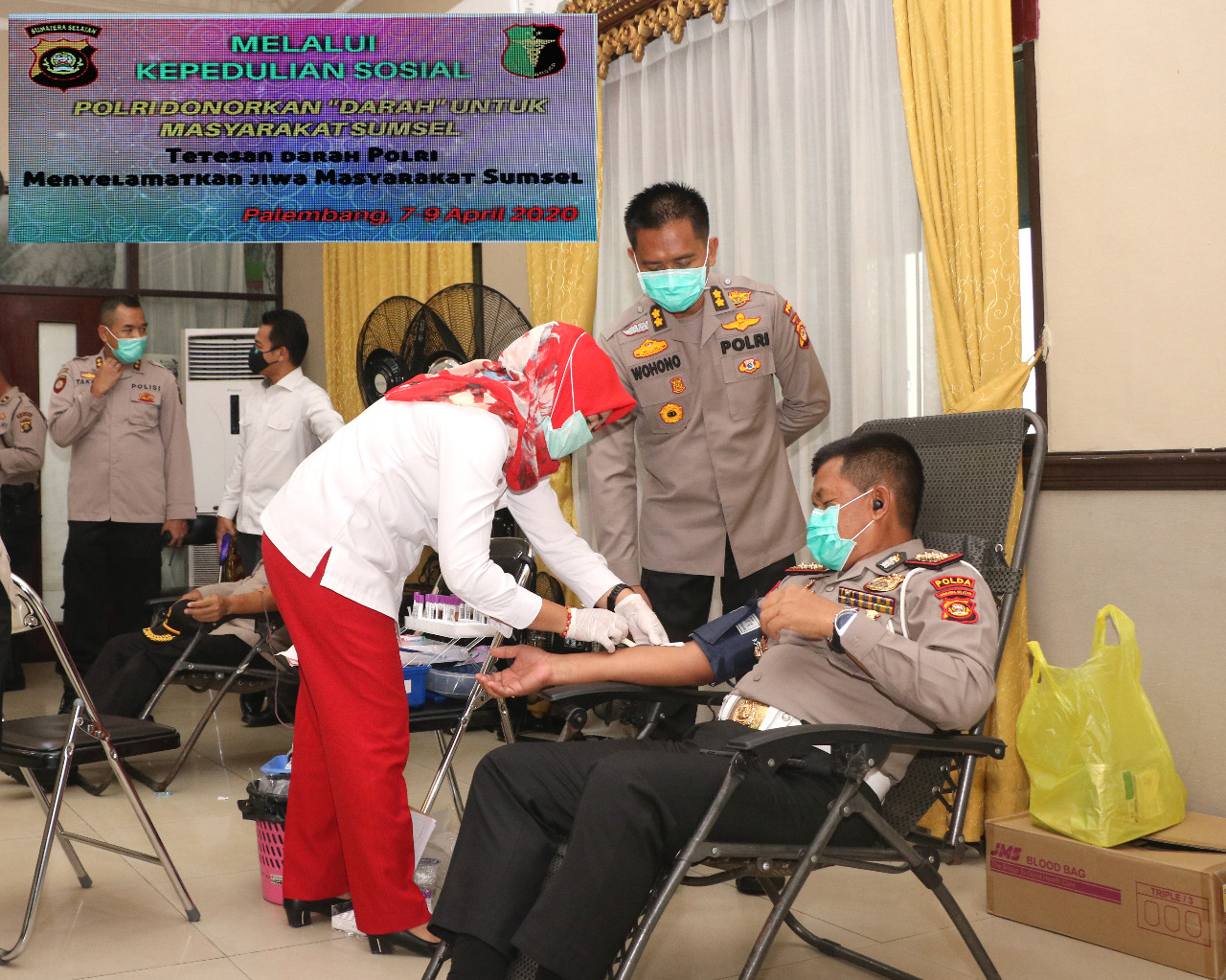 Peduli Kemanusiaan, Polda Sumsel Gelar Donor Darah