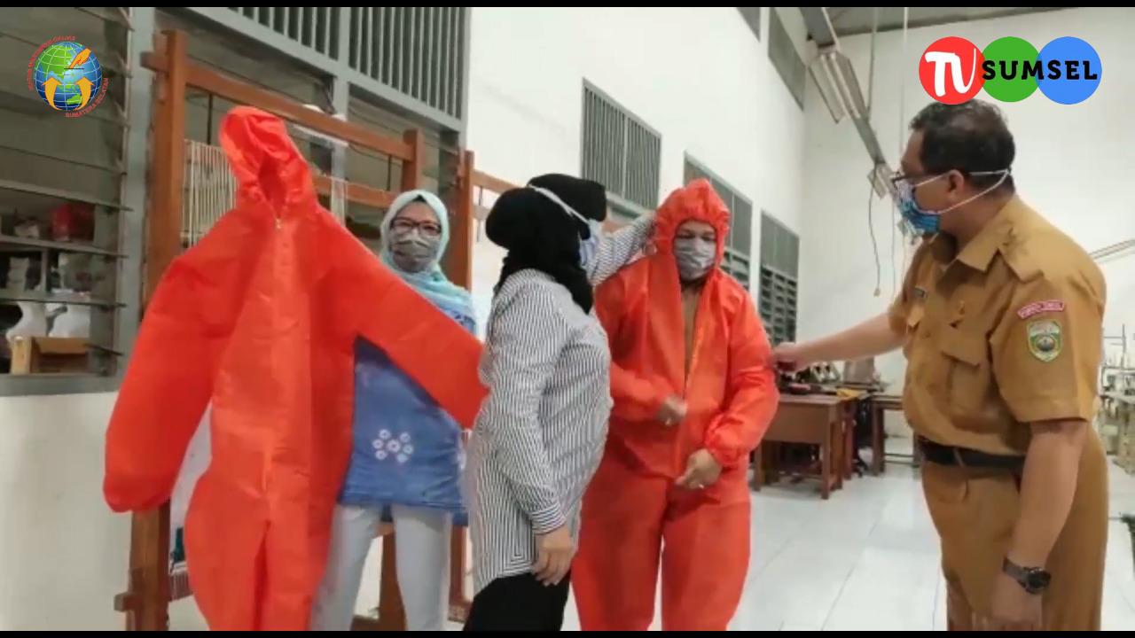 Video : Peduli Penanggulangan COVID-19 Anak SMKN-7 Produksi APD