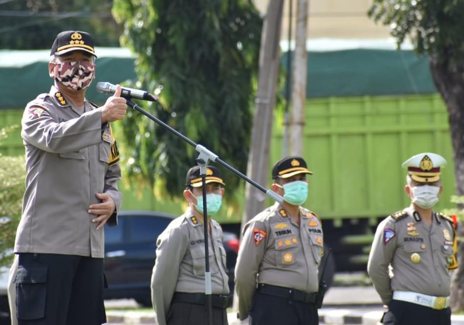 Polda Sumsel Gelar Apel Gabungan Pam Hari Raya Waisak, Ops Aman Nusa II dan Ops Ketupat Musi 2020