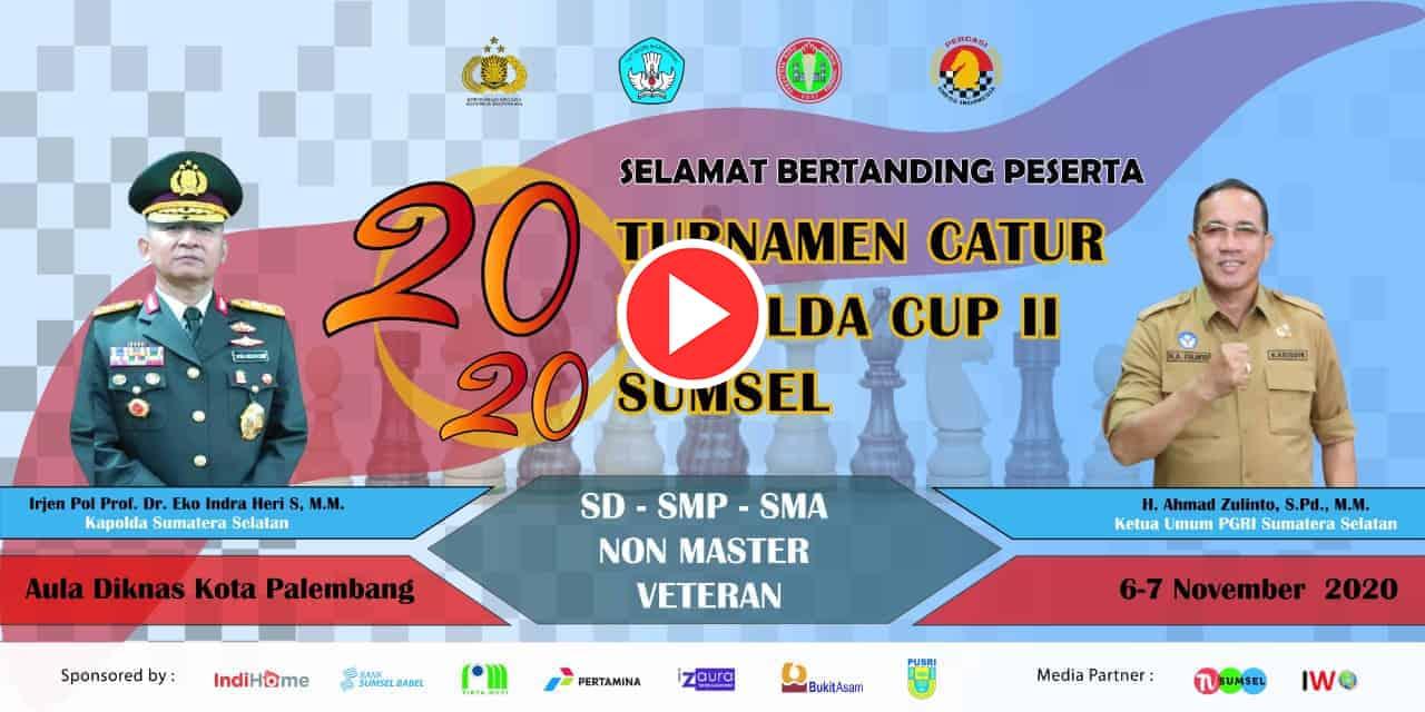 [Live] Turnamen Catur Kapolda Cup II Sumsel 2020 | Hari-2