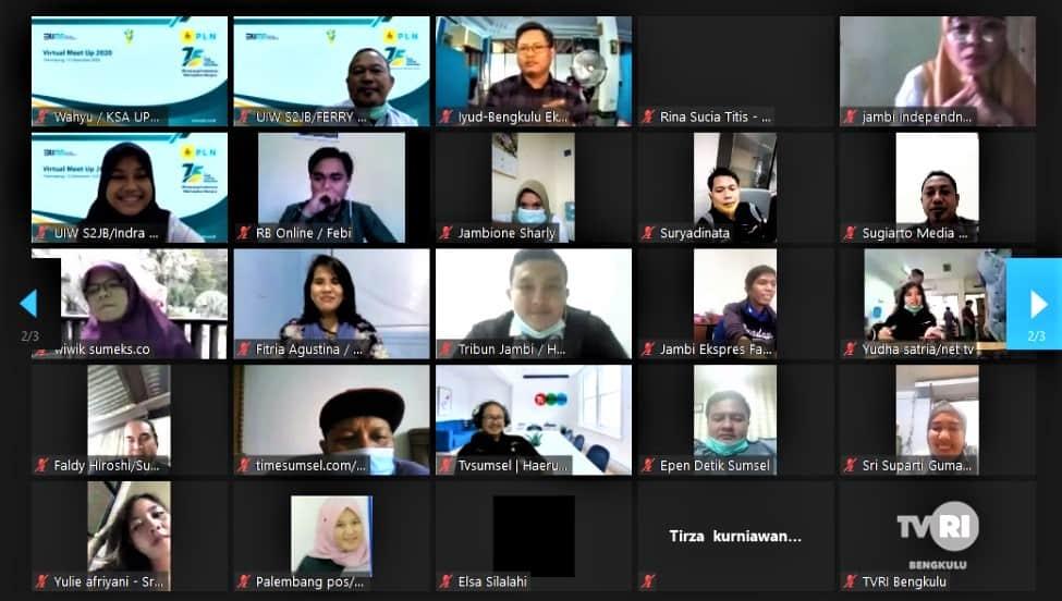 PLN Gelar Virtual Meet-Up Bareng Media di Tiga Provinsi