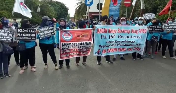 Karyawan Tuntut PT. JSC Belum Bayar Gaji 10 Bulan